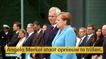 Les images de la chancelière allemande Angela Merkel prise de tremblements pour la troisième fois ce midi en pleine cérémonie officielle - Vidéo