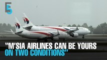 EVENING 5: Tun M: M'sia Airlines only yours on two conditions