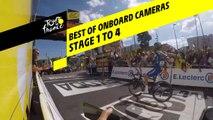 Best Of caméras embarquées / Best Of onboard cameras - Etape 1 à 4 / Stage 1 to 4 - Tour de France 2019