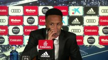 Dizzy and unwell Militao  forced to leave his Real Madrid presentation