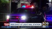 Man shot at light rail station