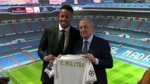 (Subtitled) Zidane's first signing Militao presented at Real Madrid
