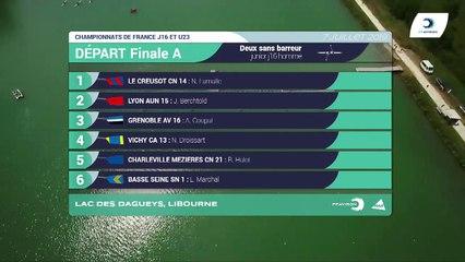 Championnat de France J16 Bateaux longs Libourne 2019 - Finale du deux sans barreur hommes-J16H2-