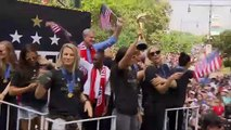 Ticker tape rains down on victorious U.S. team during NYC parade