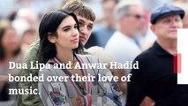 Dua Lipa And Anwar Hadid Get Cozy