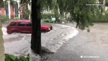 Big trouble brewing in the Big Easy as roads already flooding from rain
