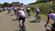 Tour de France: le Français Tony Gallopin se prend un parasol dans une roue lors de la 5eétape