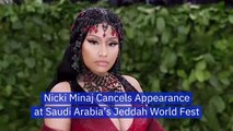 Nicki Minaj Cancels Jeddah World Fest Appearance After Backlash