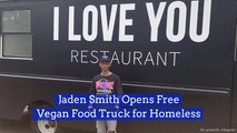 Jaden Smith Helps The Homeless With A Food Truck