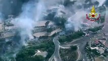 Catania - Incendio alla la Playa due lidi distrutti dal fuoco(10.07.19)