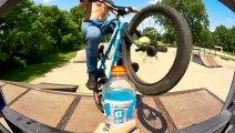 Bottle Cap challenge.. en Vélo BMX !