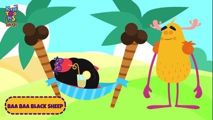 Baa Baa Black Sheep - బా బా బ్లాక్ షీప్   Telugu Nursery Rhymes For Kids   KinToons Telugu