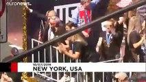 Las campeonas del mundo de fútbol celebraron el miércoles en Nueva York su victoria
