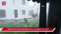 Edirne'de misket büyüklüğünde dolu!