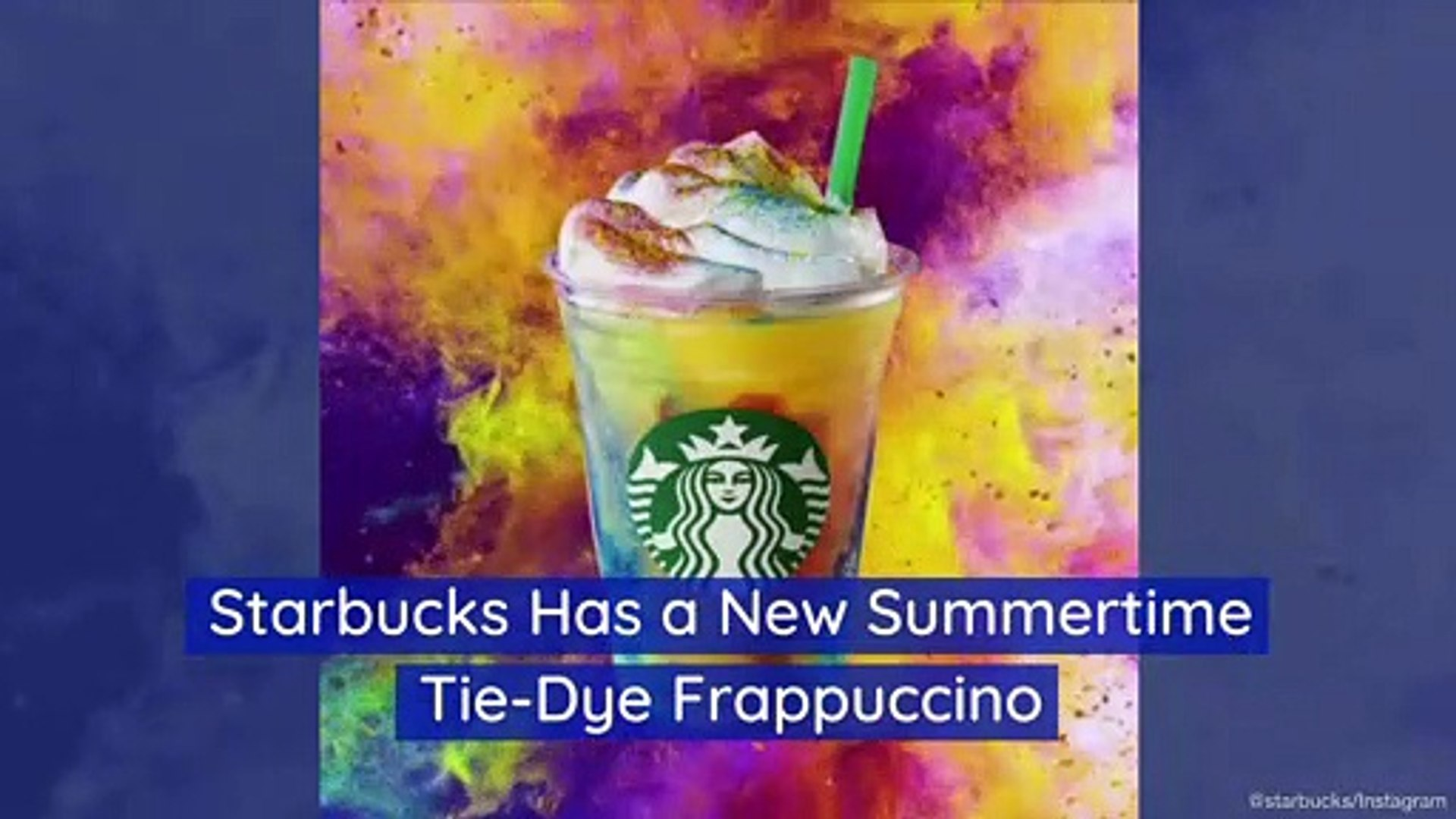 Starbucks Has a New Summertime Tie-Dye Frappuccino - video dailymotion