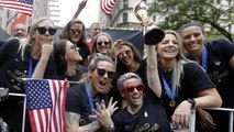 U.S. women's soccer team honored with parade after World Cup win