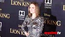 "Emily Deschanel ""The Lion King' World Premiere Red Carpet"