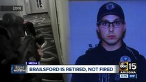 Mesa officer who killed was fire, rehired and retired