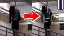 アパートの廊下で女性が首吊り…⁉→ハンガーにかけられた衣類だった - トモニュース