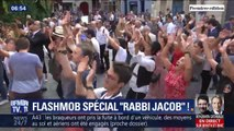 "200 fans de ""Rabbi Jacob"" refont la danse iconique du film à Paris, 46 ans après"