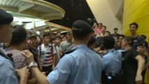 Scuffles over extradition bill near Hong Kong's Yau Tong MTR station between protesters and government supporters
