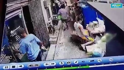 CCTV footage shows robbers entering Metrobank's Binondo branch