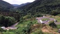 Tour de France: les fans en place au lac d'Alfeld