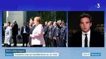 Allemagne : troisième crise de tremblements en un mois pour Merkel