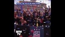 La chaleureuse parade des Américaines championnes du monde dans les rues de New York