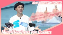 [Pops in Seoul] Must-Have Items for K-POP CONCERTS! (feat. Felix)