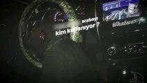 İstanbul'da trafikte otomobilini diziyle kullanan maganda kamerada
