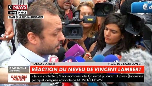 """Décès de Vincent Lambert - Son neveu, François Lambert, s'est exprimé ce matin: """"Par respect pour lui, il fallait arrêter de le maintenir en vie dans cet état. J'espère qu'il repose en paix"""""""