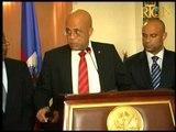 Prezidan Repiblik la Michel Joseph Martelly kite peyi Dayiti pou ran'n li nan peyi Jamaïque
