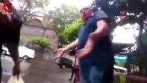 Taksici, kadın turisti darp etti