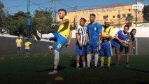 Em São Paulo, sósias dos astros do futebol Neymar e Zlatan batem um bolão!