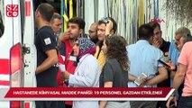 Ankara'da hastanede kimyasal madde paniği 19 personel gazdan etkilendi