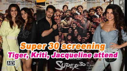 Super 30 screening | Tiger, Kriti, Jacqueline watch Hrithik's film