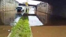 Conakry: la route complètement coupée au niveau de l'aéroport Gbessia…
