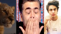 The Lion King Teaser: Karan Johar gets emotional after hearing Aryan Khan's voice  | FilmiBeat