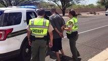 L'homme arrêté après avoir heurté le cactus