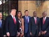 Image officielle du président des Etats-Unis, Donald Trump avec les leaders de la caraïbes.