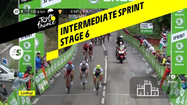 Sprint Intérmédiaire / Intermediate sprint - Étape 6 / Stage 6 - Tour de France 2019