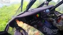 Cet hélicoptère se fait tirer dessus en vol en Colombie !
