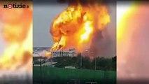 Mosca, divampa grosso incendio nella centrale a gas: numerosi i feriti | Notizie.it