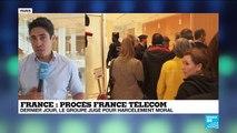 """Dernier jour du procès de France Télécom et de ses ex-dirigeants pour """"harcèlement moral"""""""