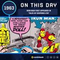 Iron Man First Appeared (March 10, 1963)