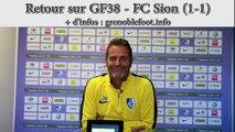 Retour sur GF38 - Sion avec Philippe Hinschberger