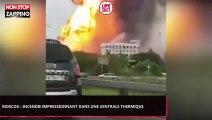 Moscou : Un incendie se déclare dans une centrale thermique (Vidéo)