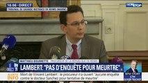 """Mort de Vincent Lambert : """"Ce n'est pas une enquête pour meurtre"""", a précisé le procureur de la République de Reims"""