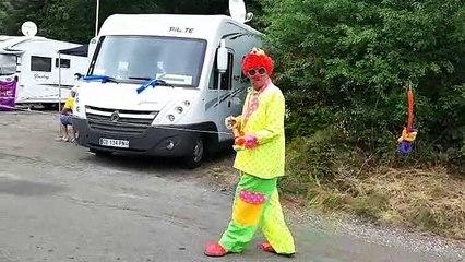 Le clown du nord dans la montée de la 6e étape du Tour de France